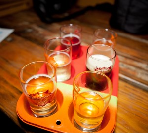 Beer and Cider flight